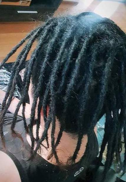 Dreadlocks installation half head Newcastle after