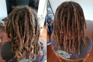 Newcastle Dreadlocks maintenance before after